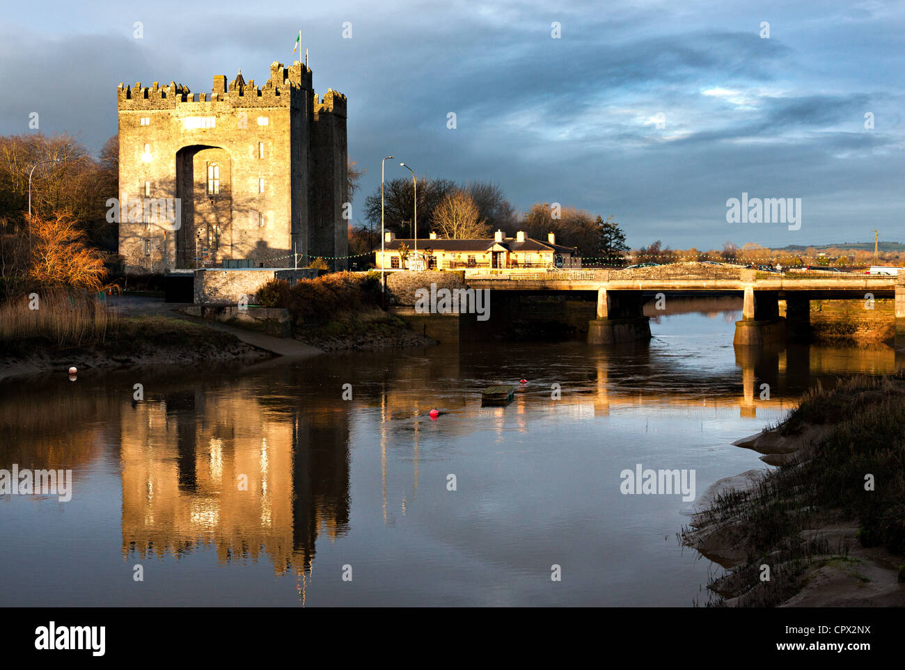 Bunratty castle, bunratty, county clare, ireland - Stock Image