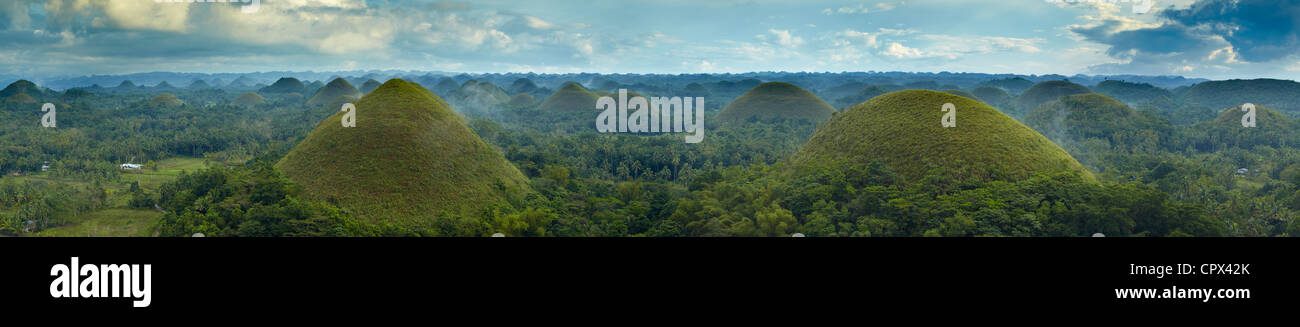 Chocolate Hills, Bohol, The Visayas, Philippines - Stock Image