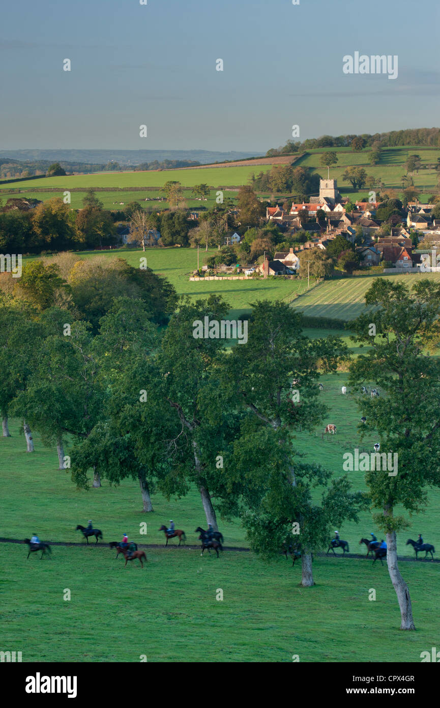 Milborne Port, on the Dorset/Somerset Border, England UK - Stock Image