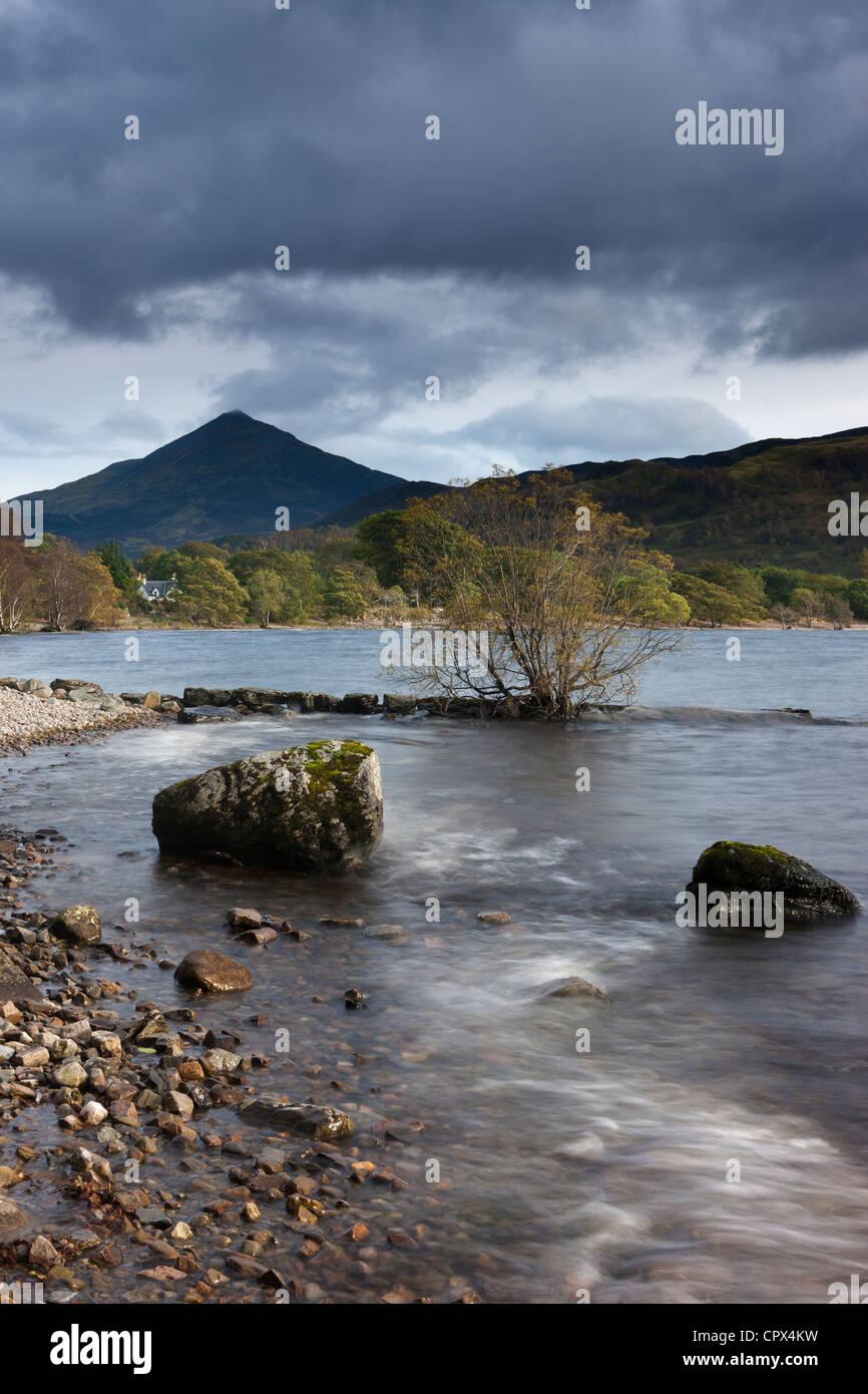 Schiehallion & Loch Rannoch, Perthshire, Scotland - Stock Image