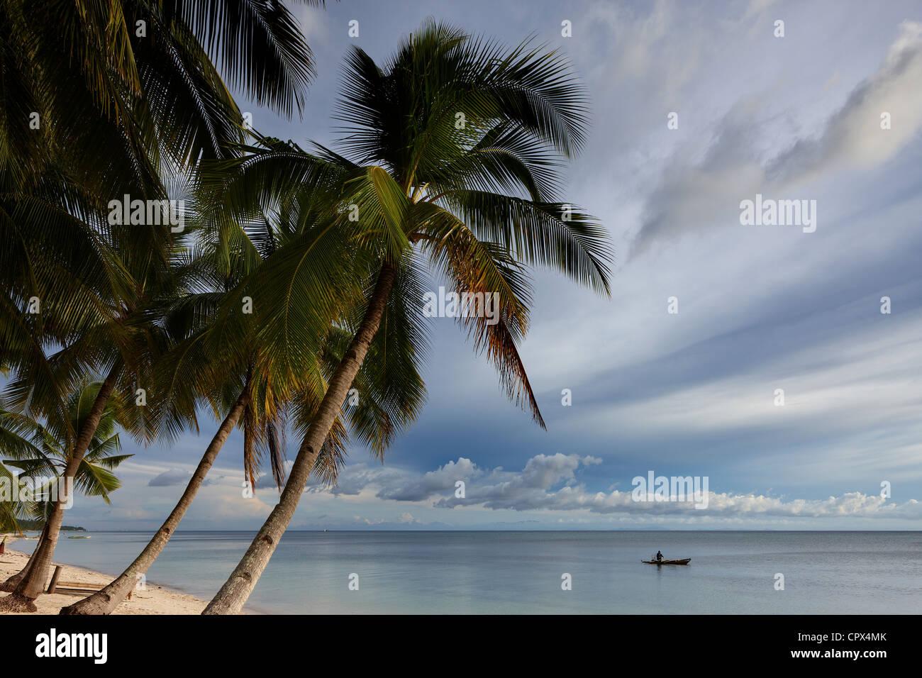 San Juan Beach, Siquijor, The Visayas, Philippines - Stock Image