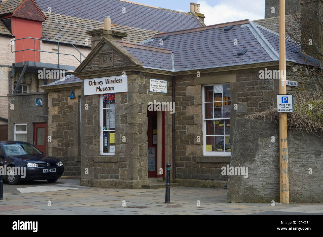 Kirkwall Orkney Wireless Museum showing extensive varied collection domestic defence wireless equipment collected - Stock Image