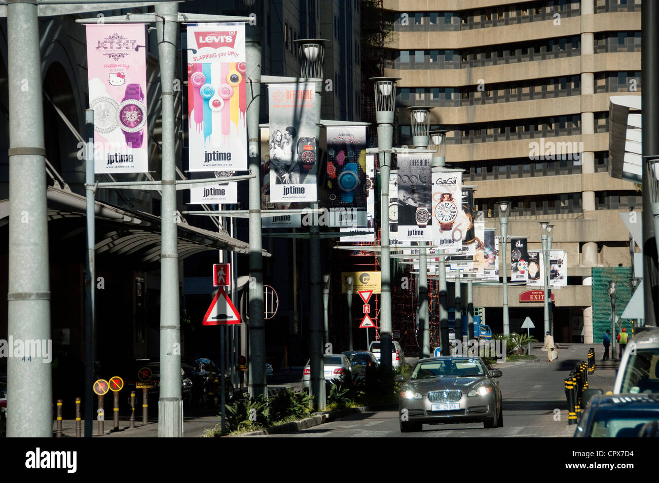 Overall shot of Sandton City and Nelson Mandela Square Stock Photo