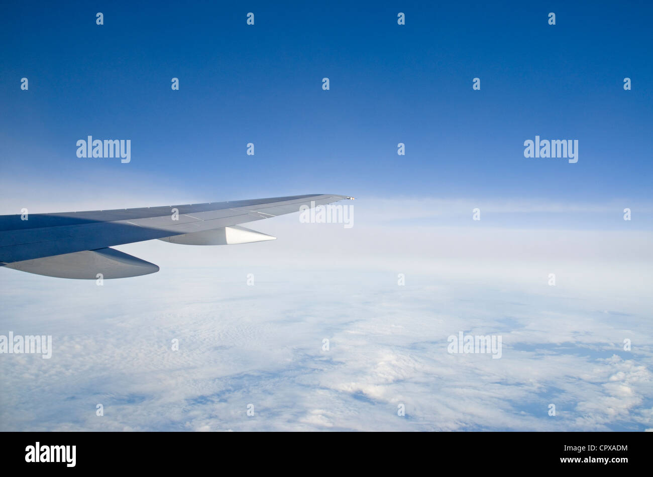 View from B752 airoplane - Stock Image