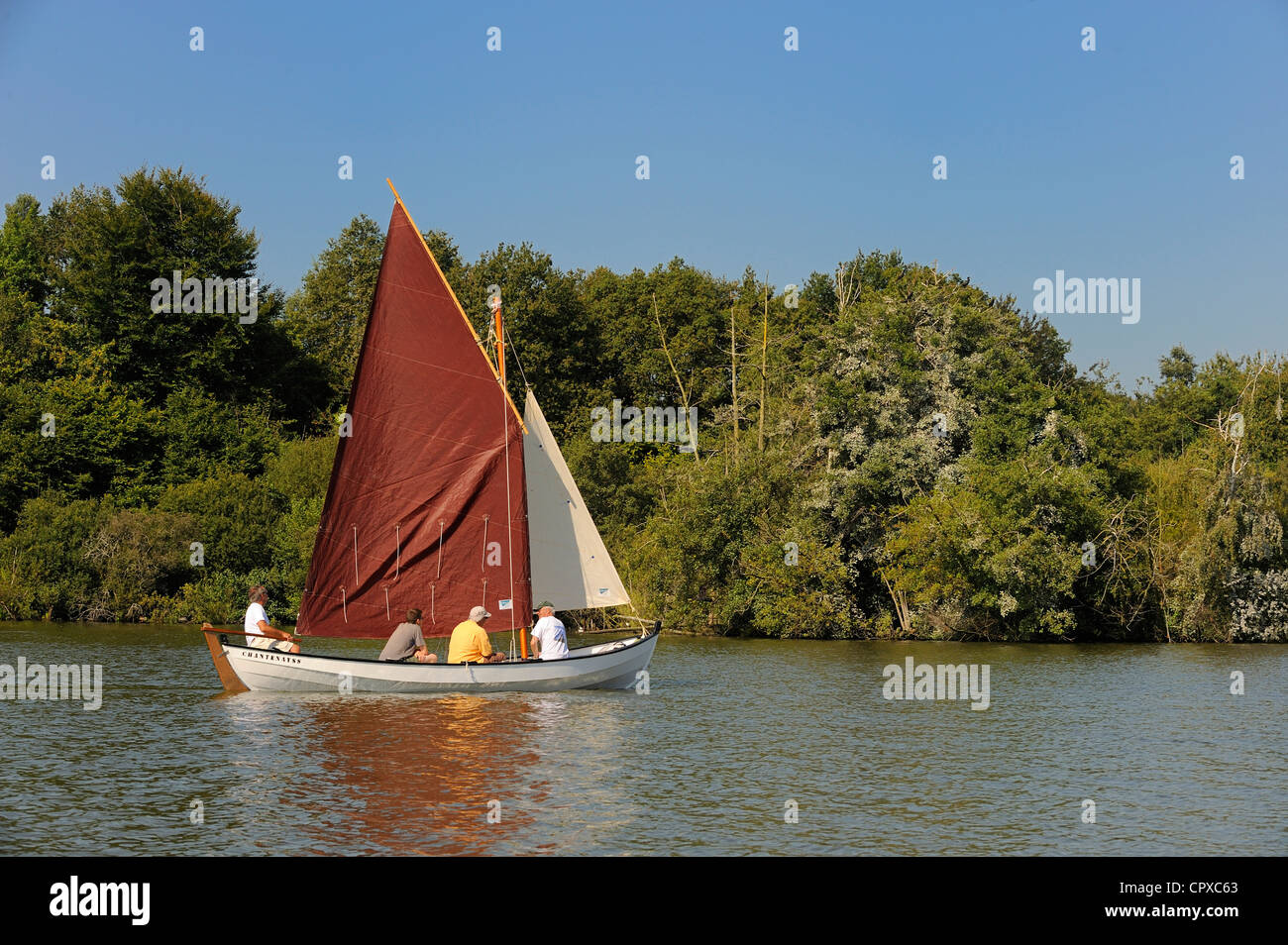 France, Loire Atlantique, Nantes, Erdre River Stock Photo