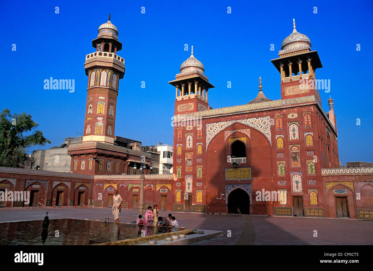 Pakistan, Lahore, Wazir Khan Mosque dated 17th century - Stock Image