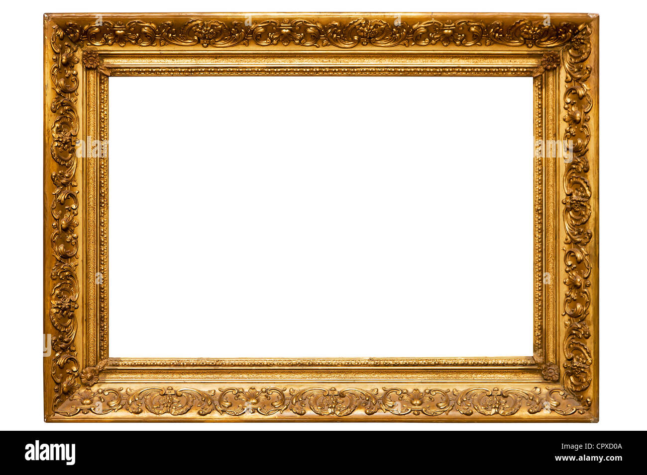Gilded picture frame, horizontal Stock Photo: 48524122 - Alamy