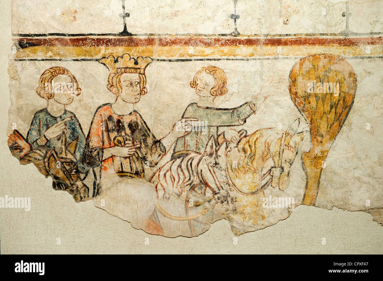 medieval 13th century wall painting stock photos medieval 13th century wall painting stock. Black Bedroom Furniture Sets. Home Design Ideas