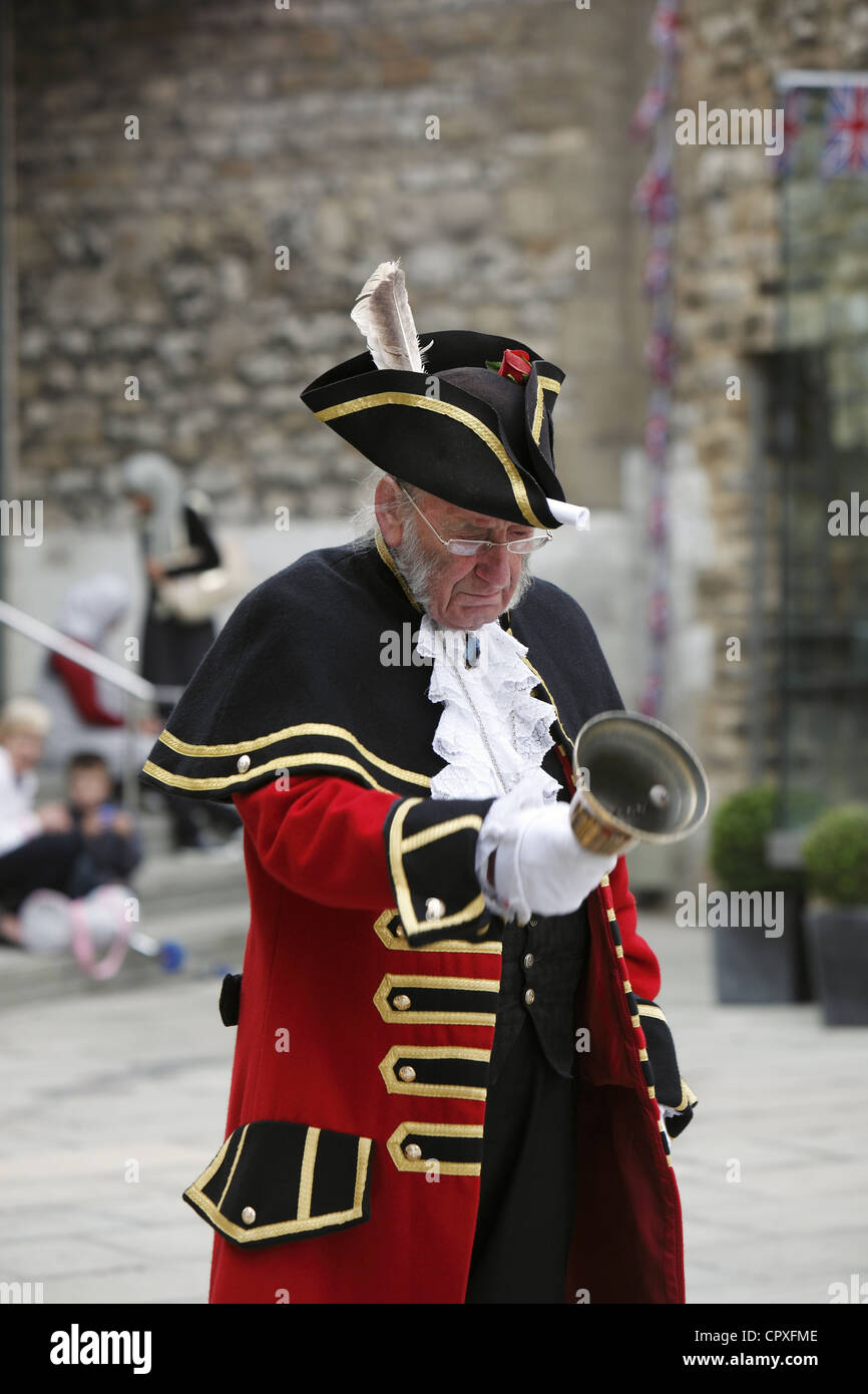 Town Criers compete in a National Town Crier Competition to celebrate Queen Elizabeth II Diamond Jubilee at Oxford - Stock Image