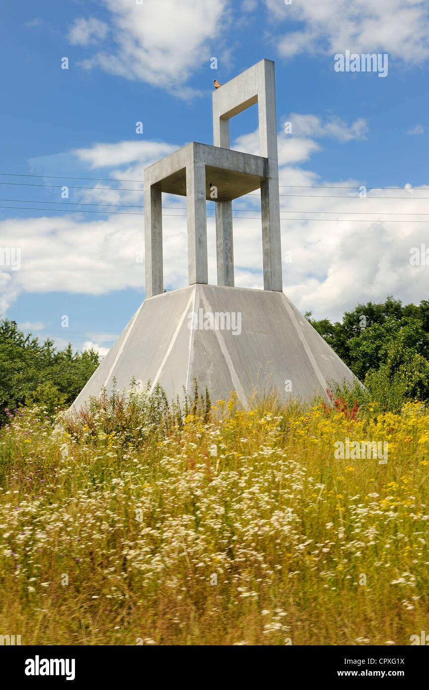 Germany, South Baden, Weil am Rhein near Basel, Giant chair at the entrance of the city of the chair - Stock Image