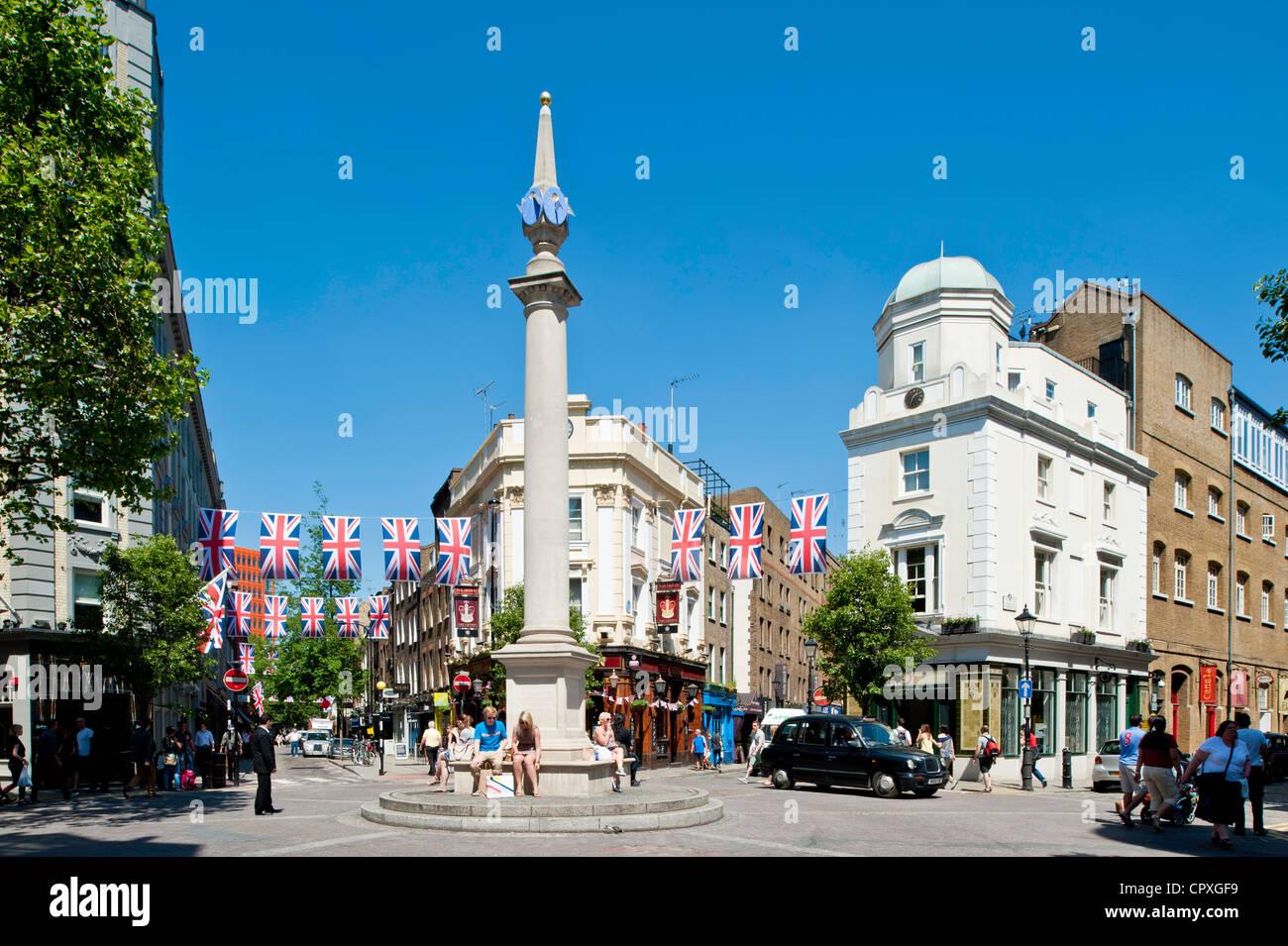 Seven Dials, Covent Garden, London, United Kingdom - Stock Image