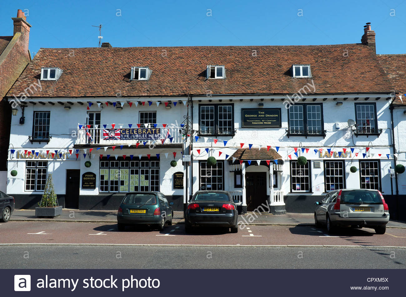 The George and Dragon public house in Westerham in Kent, UK. - Stock Image