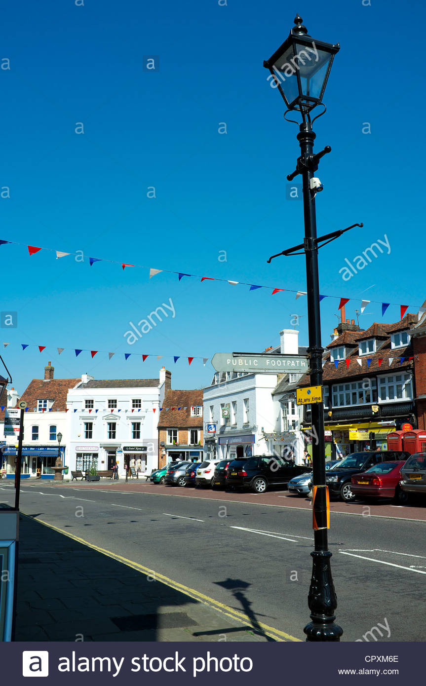 Town centre scene in Westerham in Kent, UK. - Stock Image