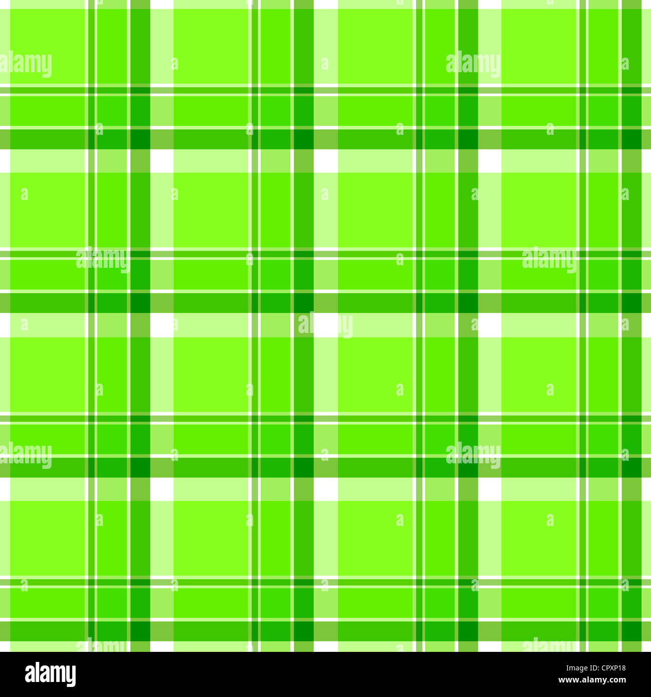 Plaid pattern in shades of green Stock Photo