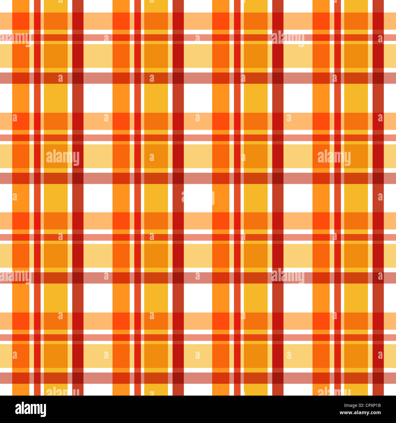 Plaid pattern in orange and brown Stock Photo