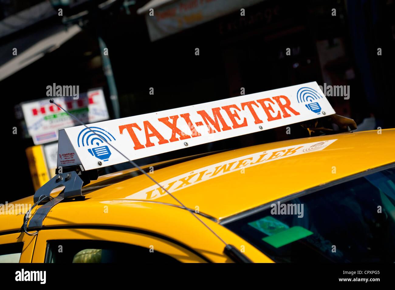 'Taxi-Meter' (Detail), Thanon Khao San (Khao San Road, Banglamphu, Bangkok, Thailand - Stock Image