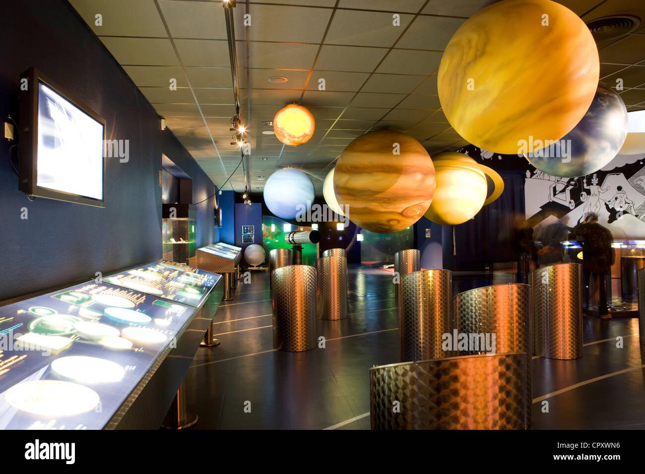 France, Manche, Cotentin, La Hague, Tonneville, Ludiver La Hague planetarium - Stock Image