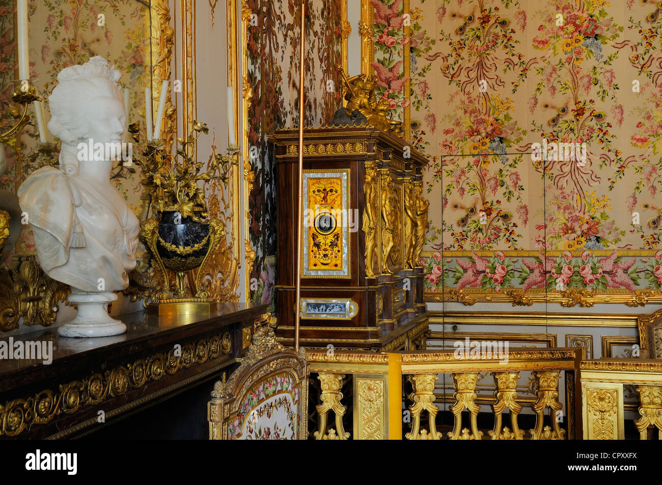 France Yvelines Chateau de Versailles listed as World Heritage by UNESCO Les Grands Appartements State Apartments - Stock Image