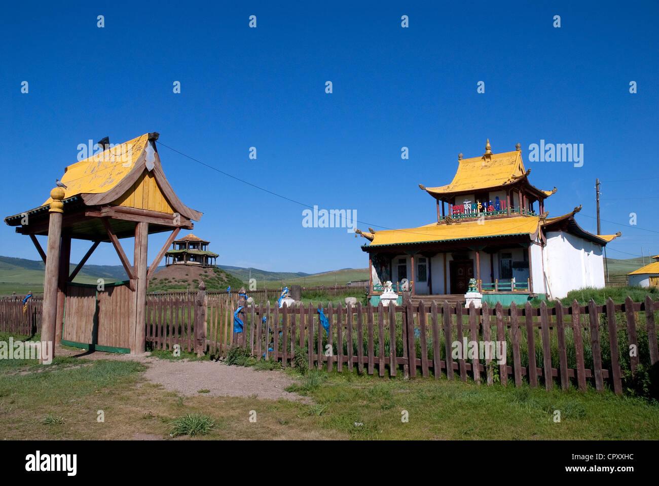 Mongolia, Ovorkhangai Region, Buddhist monastery - Stock Image