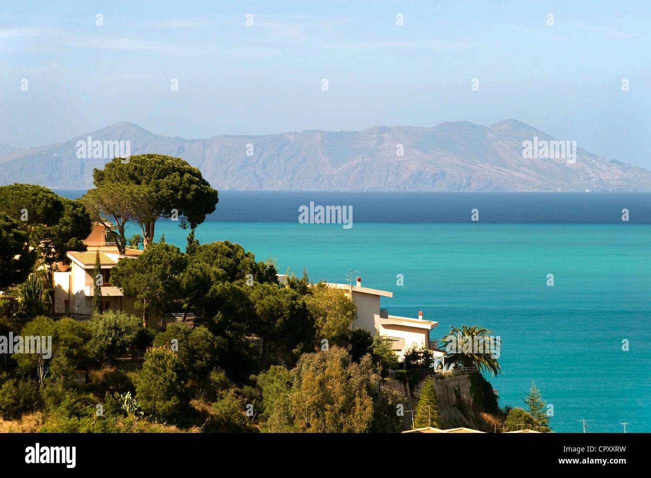 Italy, Sicily, Ionian Coast near Tindari - Stock Image