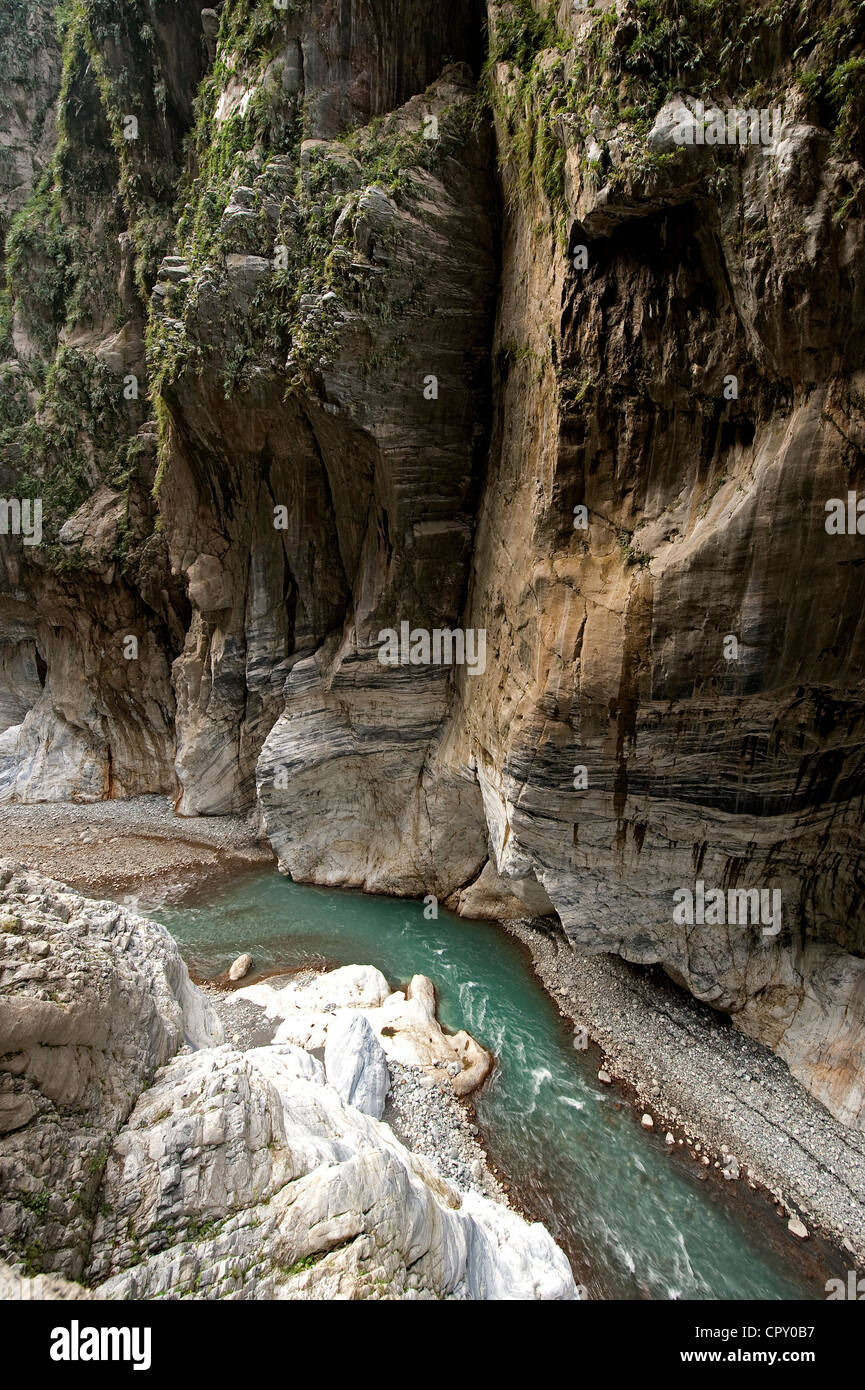 Taiwan, Taroko National Park, the gorges, Tunnel of Nine Turns - Stock Image