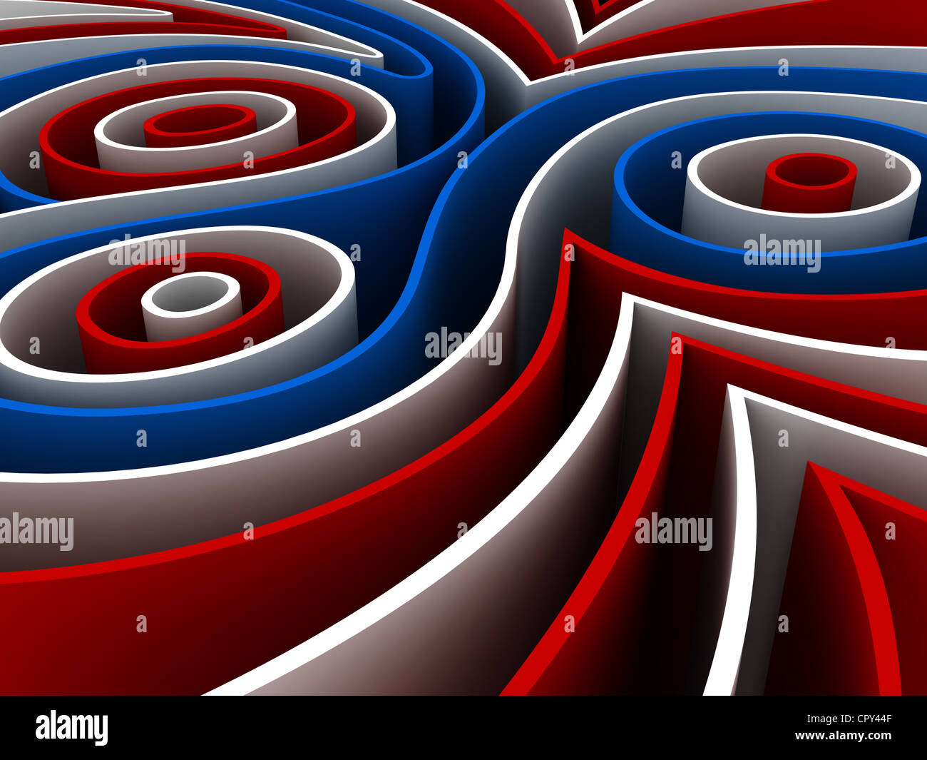 Abstract 3d render of colorful figures - Stock Image