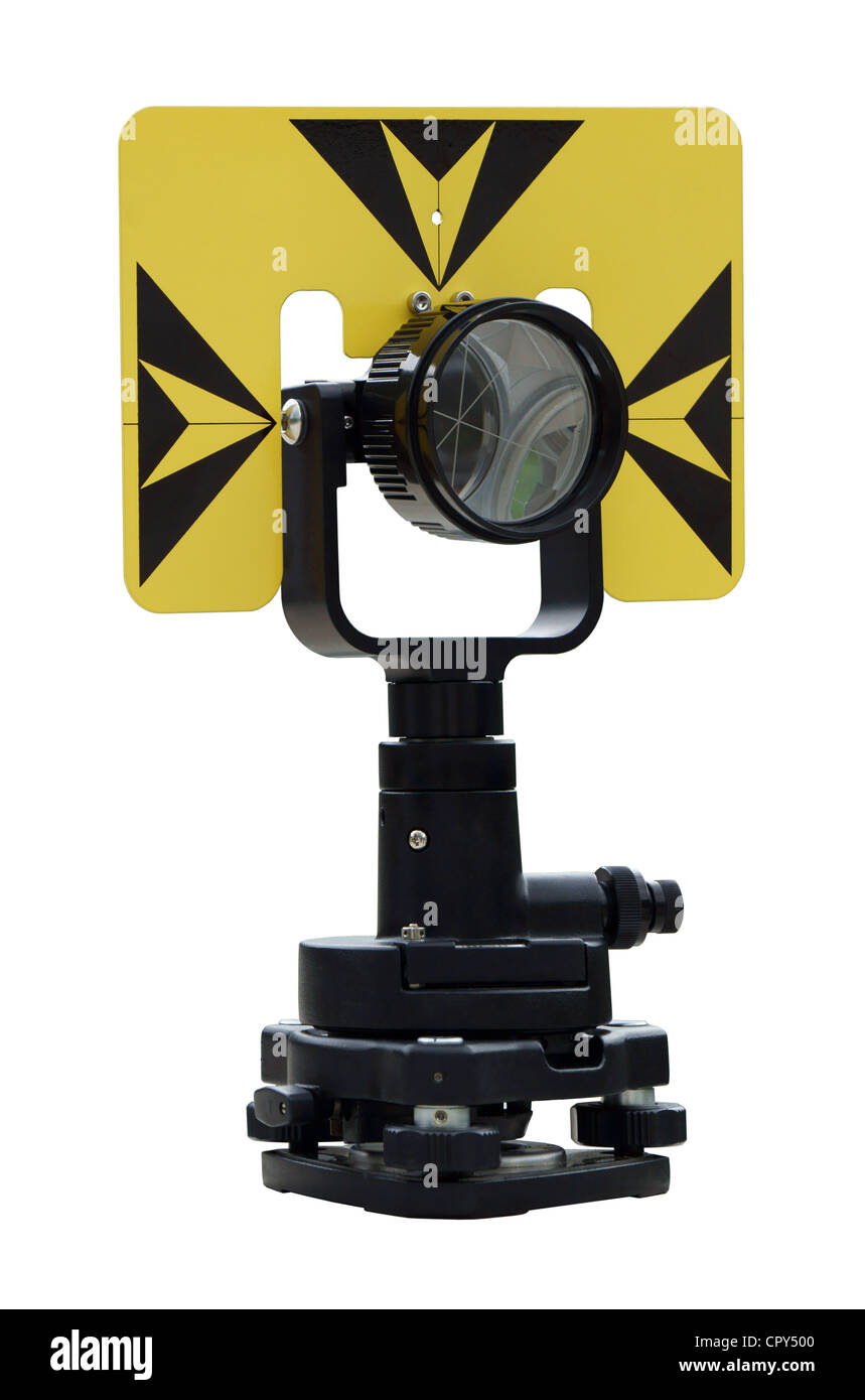 Geodetic signal for precise angles and distance measurement - Stock Image