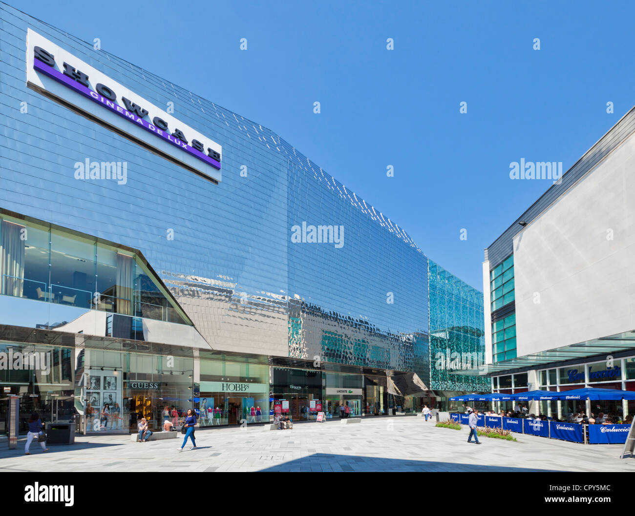 Highcross shopping centre showcase cinema complex  Leicester city centre Leicestershire East Midlands  England UK - Stock Image