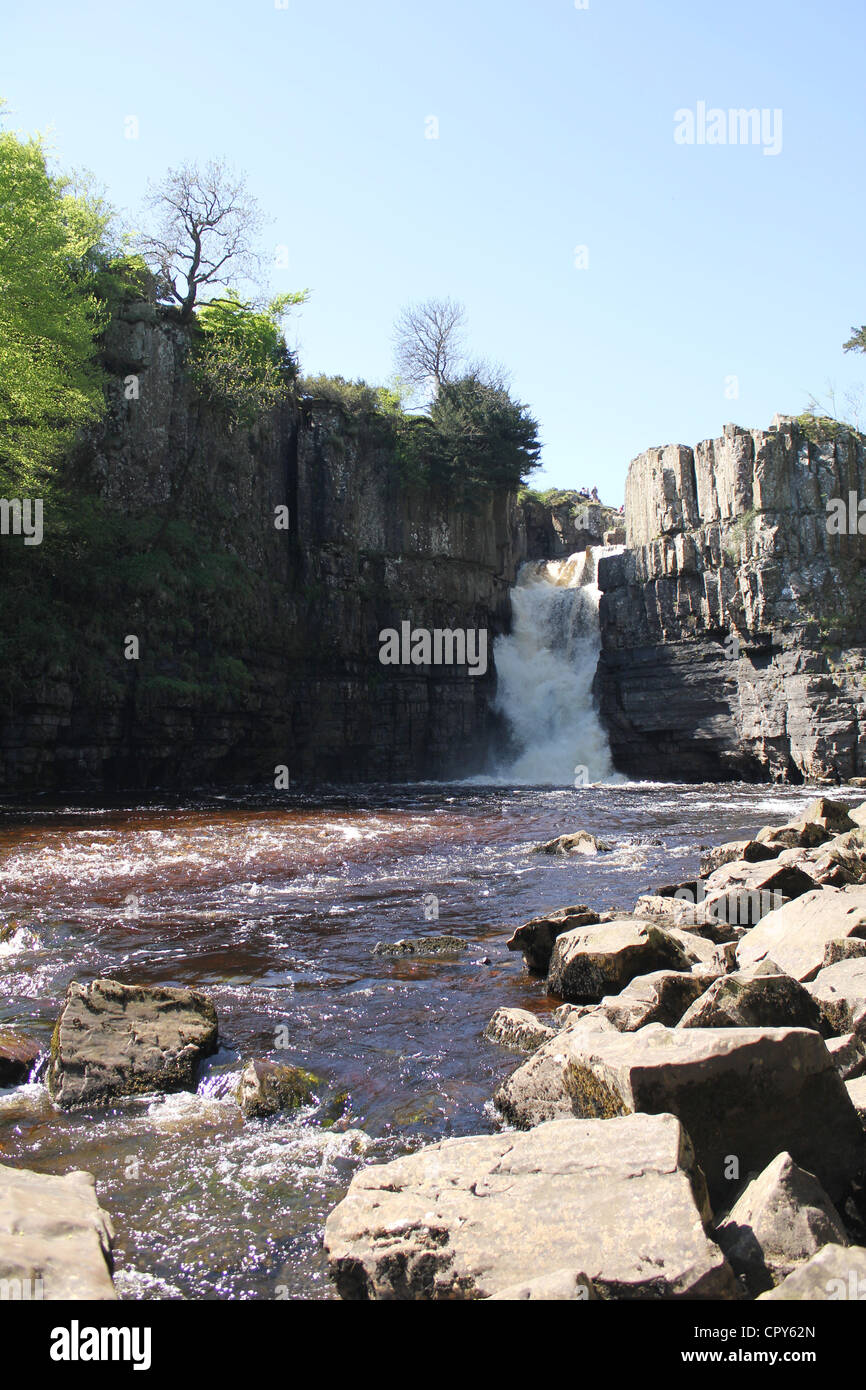 Teesdale scenes, North East England. 26th May 2012 - High Force waterfall - one of the most spectacular waterfalls - Stock Image