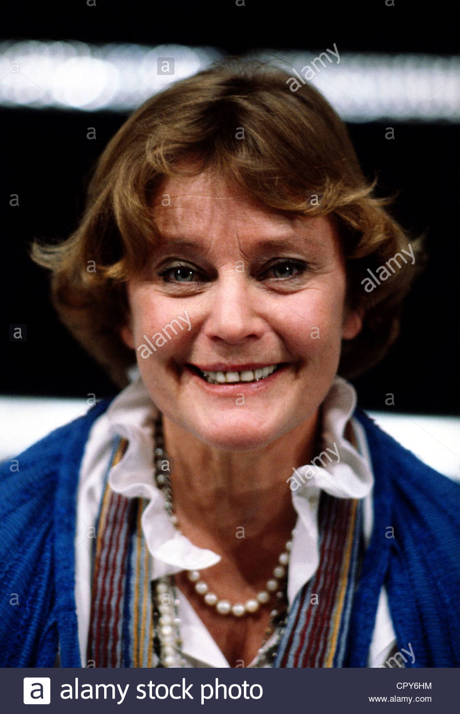 Schell, Maria, 15.1.1926 - 26.4.2005, Austrian actress, portrait, circa 1980, smiling, smile, - Stock Image