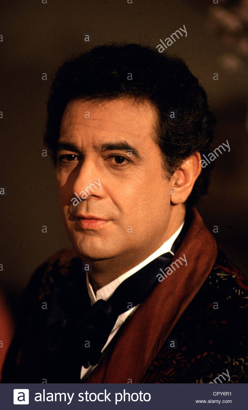 Domingo, Placido, * 21.1.1941, Spanish opera singer, portrait, late 1980s, tenor, - Stock Image