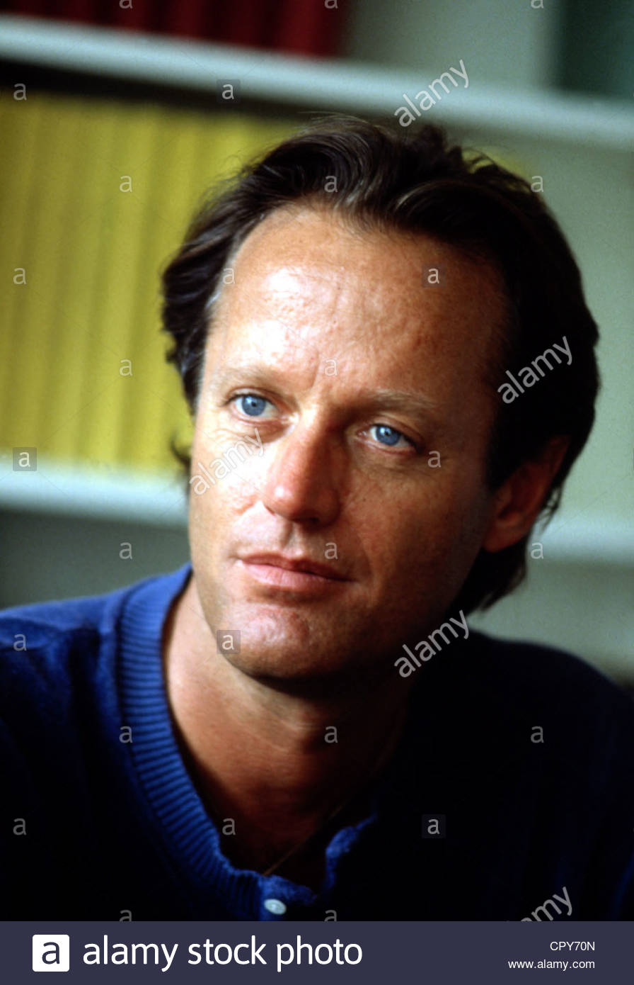 Fonda, Peter, * 23.2.1940, US actor, director, portrait, 1980s, blue eyes, - Stock Image