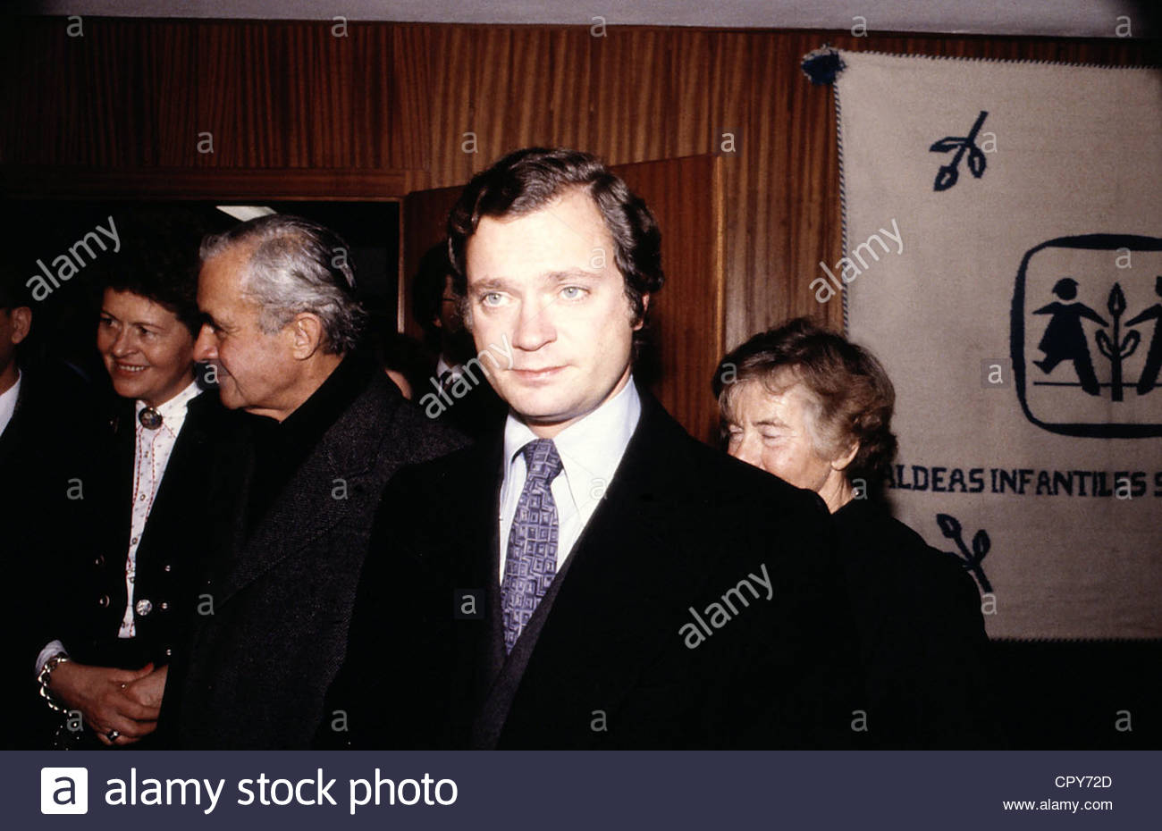 Carl XVI Gustaf, * 30.4.1946, King of Sweden since 1973, portrait, during a visit to Germany, 1980s, tie, 80s, - Stock Image