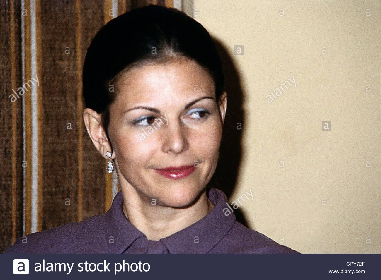 Silvia, * 23.12.1943, Queen consort of Sweden, portrait, during a visit to Germany, 1980s, - Stock Image