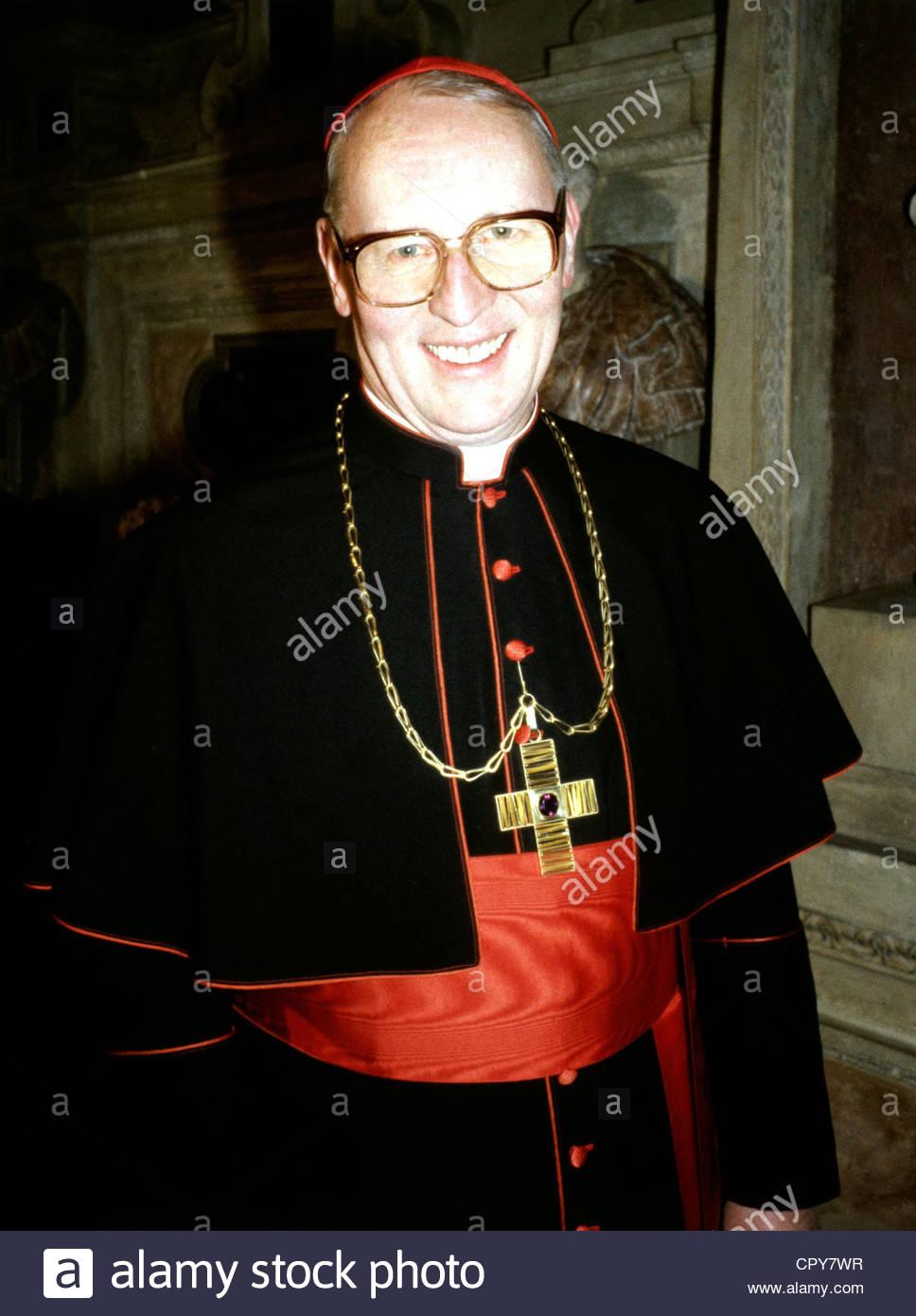 Wetter, Friedrich, Kardinal, * 20.2.1928, German clergyman, Archbishop of Munich, half length, high official, dignitary, - Stock Image