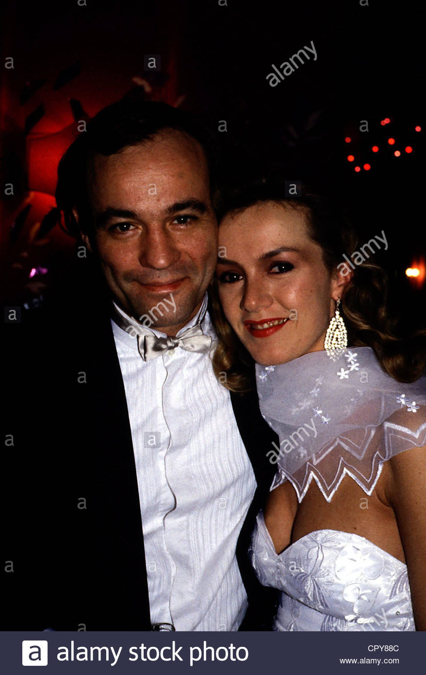Lauterbach, Heiner, * 10.4.1953, German actor, half length, with Katja Flint, circa late 1980s, evening dress, 80s, - Stock Image