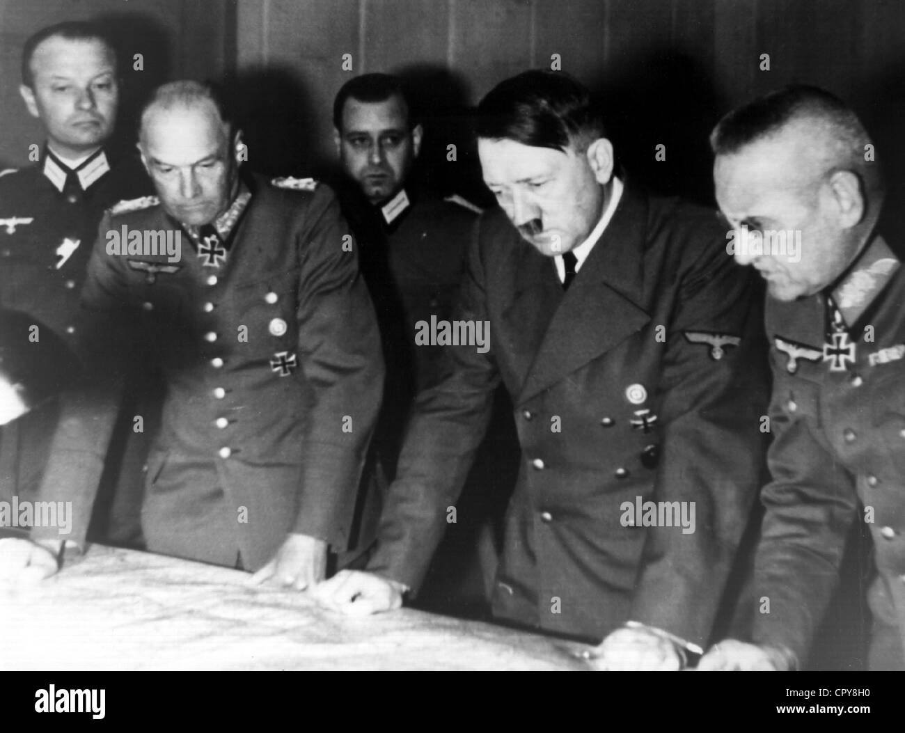Hitler, Adolf, 20.4.1889 - 30.4.1945, German politician (NSDAP), Fuehrer and Reich Chancellor since 1933, half length, - Stock Image