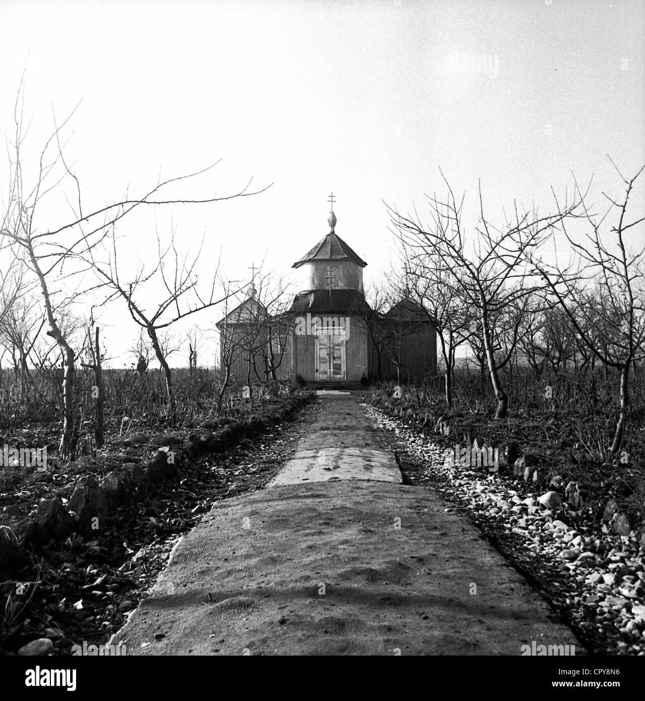 Timofey (born Timofey Vasilevich Prochorov), 22.1.1894 - 13.7.2004, Russian hermit in Munich, Germany, his church - Stock Image