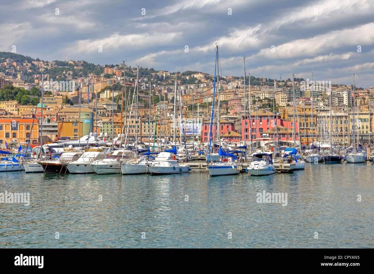Port of Genoa, Liguria, Italy - Stock Image