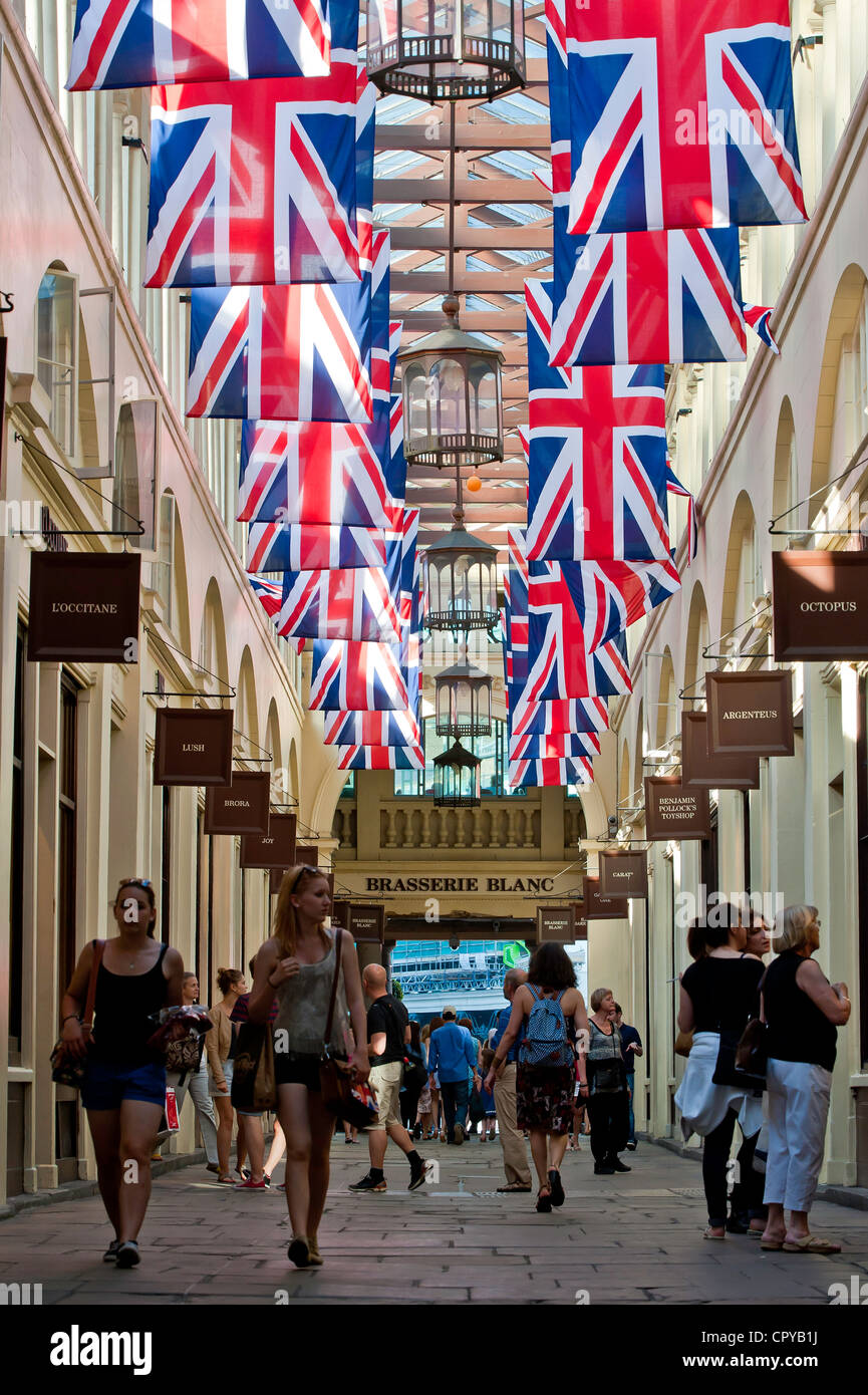 Shopping arcade, Covent Garden, London, United Kingdom - Stock Image