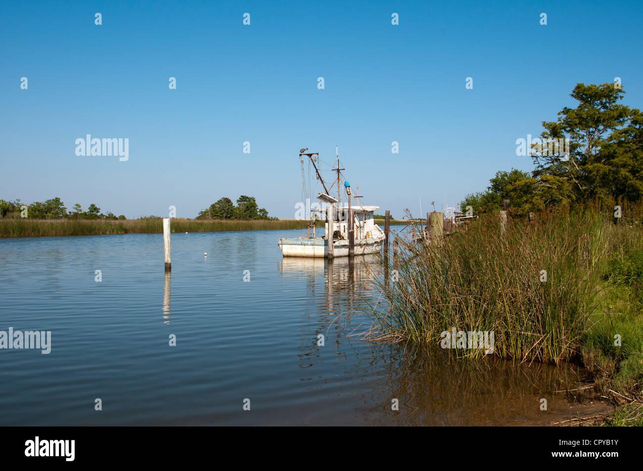 Apalachicola River Apalachicola northwest Florida USA - Stock Image