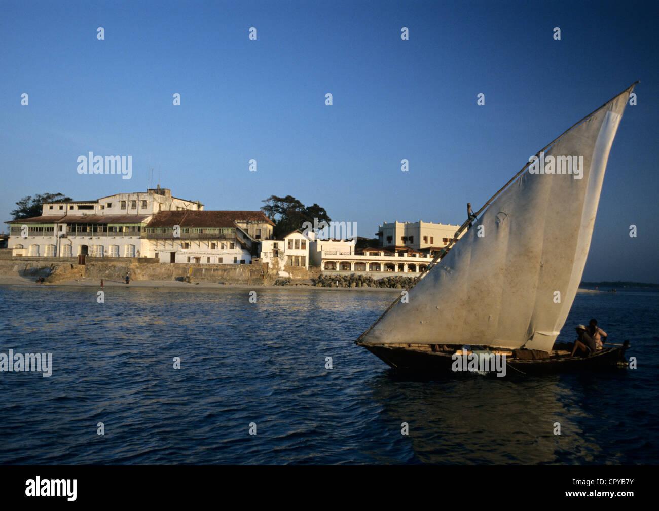 Tanzania, Zanzibar Archipelago, Unguja island (Zanzibar), Stonetown, listed as World Heritage by UNESCO, traditional - Stock Image