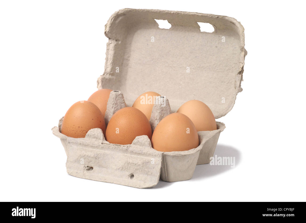 Eggs on White - Stock Image