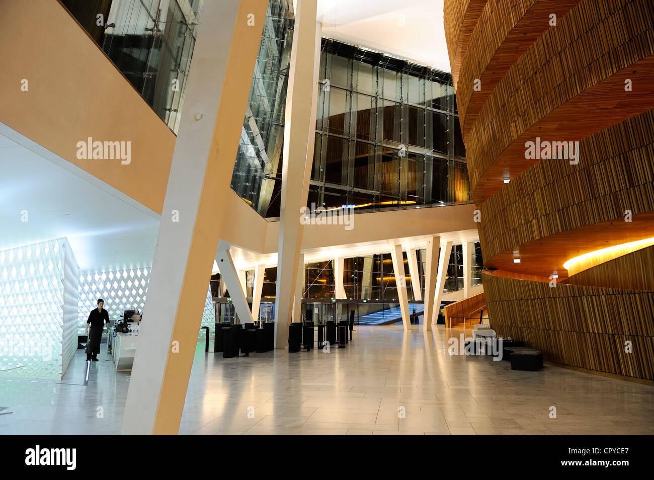Norway, Oslo, docks district of Bjorvika, the new opera house by Snohetta architects - Stock Image