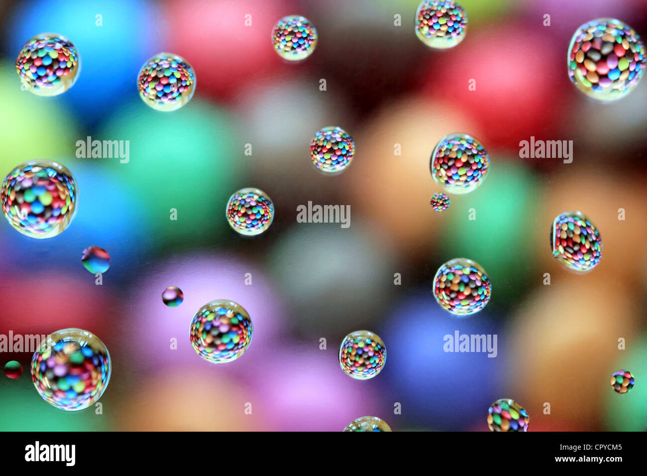 Colourful bubbles - Stock Image