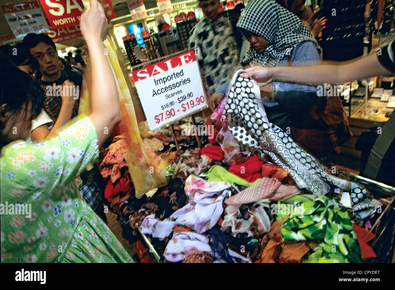 Singapore, Orchoad Street, Contrepoint Commercial Center, summer sales - Stock Image