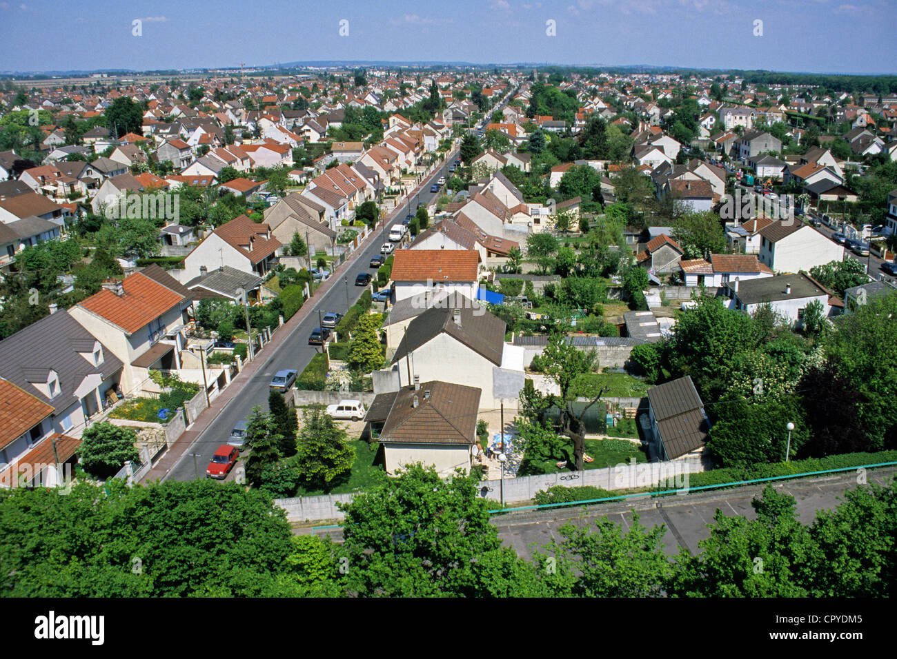 France, Seine Saint Denis, Tremblay en France, residential area in the suburbs of Paris - Stock Image