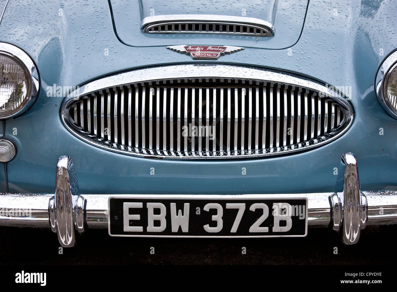 Austin Healey 3000 Mark III car at classic car rally at Brize Norton in Oxfordshire, UK - Stock Image