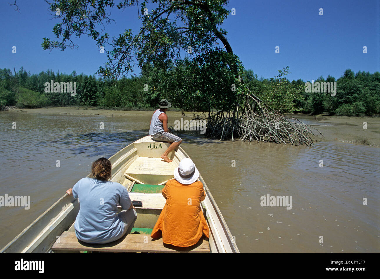 France French Guiana overseas department Kaw River site is protected listed as national reserve only small capacity - Stock Image