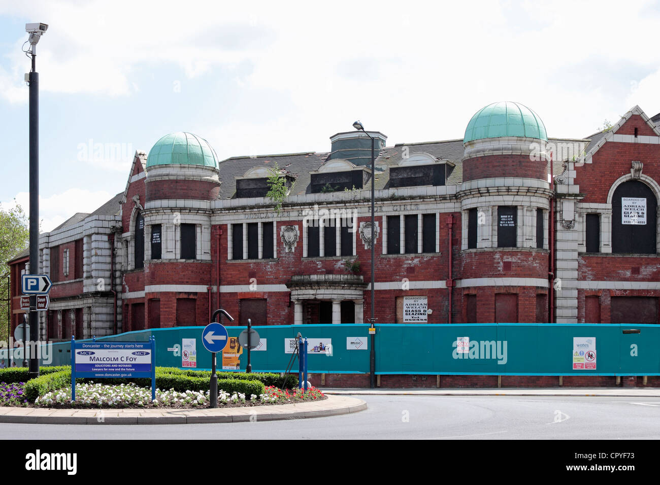 The old Doncaster High School for Girls or Girls Grammar School, Doncaster - Stock Image
